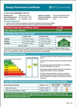 EPC Certificates Luton